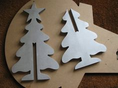 As we approached Christmas this year we decided to make some festive desk ornaments using our in house CNC's. Pallet Wood Christmas Tree, Wooden Christmas Crafts, Christmas Decorations To Make, Christmas Art, Christmas Projects, Holiday Crafts, Christmas Ornaments, Holiday Decor, Diy Arts And Crafts