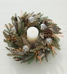 Photo of Burnished Fir and Feathers Wreath
