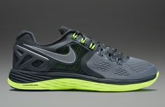 Nike Lunareclipse 4 - Mens Running Shoes - Cool Grey-Reflective Silver-Anthracite-Volt