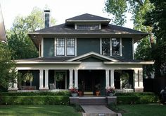 The American Foursquare or American Four Square is an American house style popular from the mid-1890s to the late 1930s. Description from pinterest.com. I searched for this on bing.com/images
