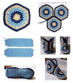 crochet tuto slippers (12)