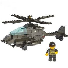 >> Click to Buy << Candice guo! Building blocks set Apache helicopters fighter plane educational plastic toy disassembly kids love most #Affiliate
