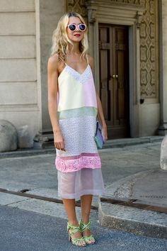 I like the mix of sheer and fabric. It could be a cute idea for a swimsuit cover-up