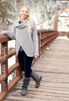 Crochet Pattern - Urban Crossover Pullover by A Crocheted Simplicity