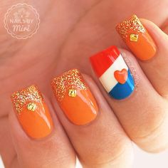 Likes, 40 Comments - Nails By Miri Shellac, Netherlands Flag, Flag Nails, Finger, Nagel Hacks, Beauty Editorial, Nail Arts, Nail Designs, Nail Polish