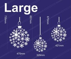 Christmas Snowflakes Balls Window/Wall/Display Decoration Sticker/Decal (Large) - 1 set: Amazon.co.uk: Kitchen & Home