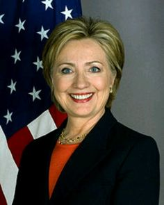 First Lady Hilary Clinton, wife of President Bill Clinton