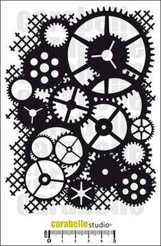 Masque : Rouage steampunk - Art Stamp