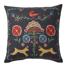 IKEA RENREPE Cushion cover Multicolour 50x50 cm You can easily vary the look because the two sides have different designs.