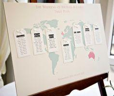 Dream Wedding! - Um casamento de sonho ...: Tema Viagens - Decoração, algumas ideias originais: