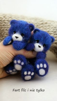 Bears! I'm conflicted. I love the color, but I wouldn't give them to a child to play with. Heck, I have trouble giving them up to adults.