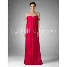Empire Sweetheart Floor-length Chiffon Bridesmaid/ Golden Globe Dress - USD $ 99.99