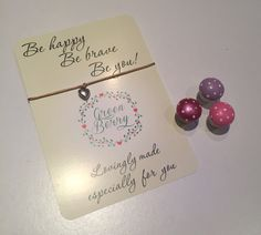 Be happy be brave be you quote card