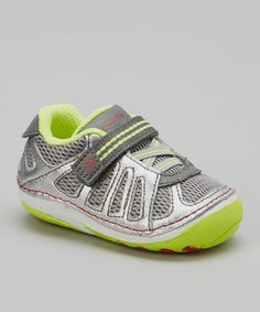 Take a look at this Gray & Citron Chip Sneaker by Stride Rite on #zulily today!