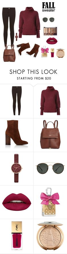 """FALL SWEATER"" by osirisarambuloh on Polyvore featuring moda, New Look, BY. Bonnie Young, Gianvito Rossi, Calvin Klein, Skagen, Ray-Ban, Huda Beauty, Juicy Couture y Yves Saint Laurent"