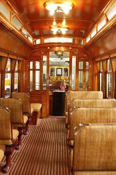 Inside a #Lisbon streetcar (tram) #Portugal