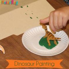 {Letter D} Dinosaur Painting