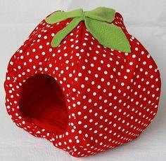 Fleece strawberry hidey house. Gotta get dis for my gpig