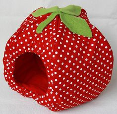 Fleece strawberry hidey house. Gotta get dis for my gpig