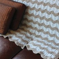 Chevron cuddler - throw pattern | Love of Knitting Summer 2011 | Love of Knitting blanket pattern