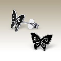 Butterfly ear studs - Finishing: E-coat 925 Sterling silver Design from Bangkok925.com  Dimensions:  1.0x0.8cm.  nice Silver Children Ear Studs at $2.38