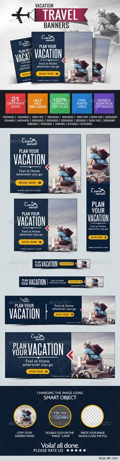 Travel & Tourism Web Banners Template PSD | Buy and Download: http://graphicriver.net/item/travel-tourism-banners/8487719?WT.ac=category_thumb&WT.z_author=BannerDesignCo&ref=ksioks