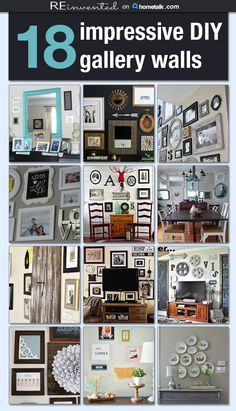 18 Impressive DIY Gallery Walls