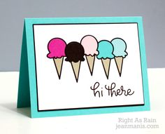 Simon Says Stamp ICE CREAM CONE PARADE Craft Die s235 This is the Life at Simon Says STAMP!