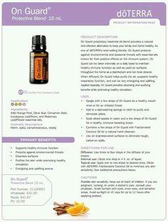 doTerra On Guard - Wild Orange, Clove Bud, Cinnamon, Eucalyptus, and Rosemary essential oils