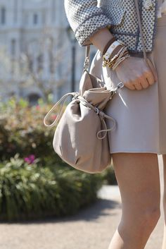 love the jacket, purse, and white bracelet