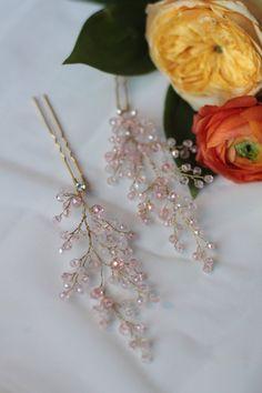 Bridal Hair Pins Wedding Hair Pins Bridal Headpiece by EnzeBridal