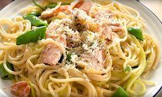 In het weekend pakken we graag iets meer uit als het om koken gaat. Een romige pasta met zalm en witte wijnsaus is hier helemaal geschikt voor. Pulled Pork, Spaghetti, Ethnic Recipes, Food, Wordpress, Website, Shredded Pork, Meal, Essen