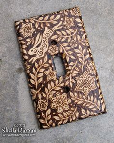 Pyrography switchplate cover