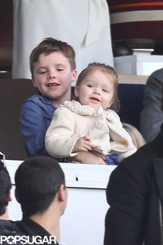 How cute are Cruz and Harper Beckham?