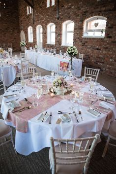 Classy pale pink and white theme as wedding decor Reception Decorations, Event Decor, Table Decorations, Quince Themes, Pink Centerpieces, Sweet 15, Ideas Para Fiestas, Wedding Goals, Forest Wedding