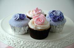 Purple Pink Cupcake