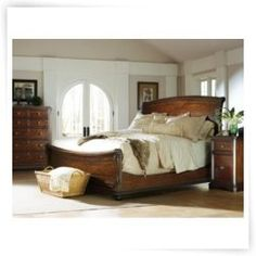 Stanley Continental Sleigh Bed