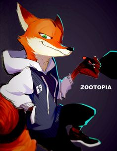 absurd_res anthro canine chow_(artist) clothing digital_media_(artwork) disney fox fur hi_res hoodie male mammal nick_wilde simple_background solo zootopia Zootopia Nick Wilde, Zootopia Nick And Judy, Zootopia Comic, Zootopia Art, Zootopia 2016, Furry Art, Character Art, Character Design, Red Fox