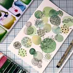 Watercolor Art Lessons, Watercolor Drawing, Painting & Drawing, Abstract Watercolor, Arte Sketchbook, Mini Canvas Art, Happy Paintings, Art Journal Inspiration, Art Drawings Sketches