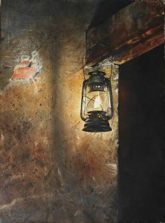 Oil Painting Abstract, Light Painting, Painting & Drawing, Watercolor Paintings, Watercolor Drawing, Old Lanterns, Still Life Art, Fall Pictures, Still Life