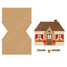 Cottage Topper with shaped base card SVG Digital Cutting File by CraftaholicCreation on Etsy