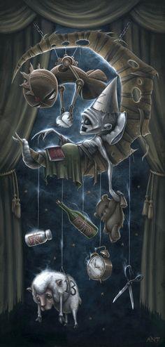 Anthony Clarkson's Grim Wonderland on http://www.anthonyclarksonart.com/