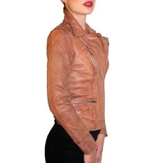 Leather biker jacket!!! fashion, leather jacket, style, vintage, design, jackets, ladies jacket, genuine leather, fine sheep nappa