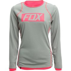 Fox Racing Ripley Jersey - Long-Sleeve ($70) ❤ liked on Polyvore featuring activewear, activewear tops, fox jersey, green jersey, long sleeve jersey and fox sportswear