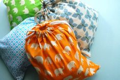 8 Adorable Sewing Projects for Beginners: Drawstring Bags.