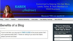 withkarenandrews.com  Having a blog allows you to not only express yourself, but to make a living from it.