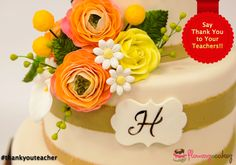 Just a token of appreciation. A cake that will take your teacher to the memories.