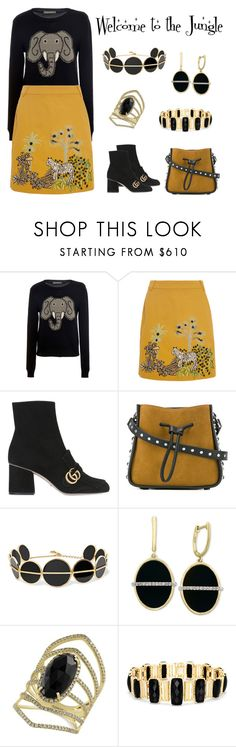 """""""Welcome to the Jungle"""" by karen-galves on Polyvore featuring Alberta Ferretti, Gucci, 3.1 Phillip Lim, Anissa Kermiche and Effy Jewelry"""