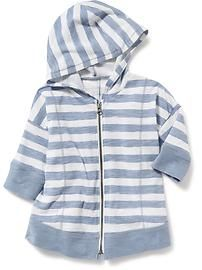Striped Slub Hoodie for Baby