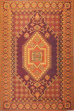 Mad Mats Oriental Turkish Indoor/Outdoor Floor Mat, 5 by 8-Feet, Rust by Mad Mats. $83.00. Save 13%!